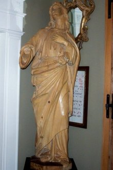 XIX Century Wood Carved Sculpture of St. John the Evangelist