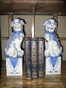 Pr. Chinese Blue and White Dogs