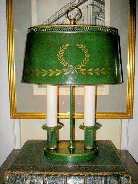 Tole Buillotte Lamp