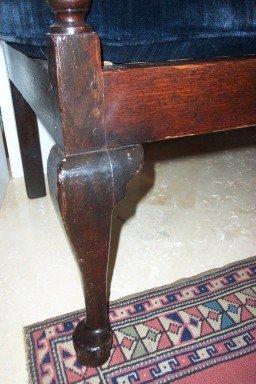 XVIII Century English Oak Queen Anne Bench