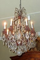Patinated  Bronze Chandelier