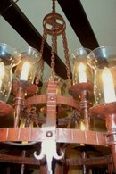 Turn of the Century Spanish Painted Iron Chandelier