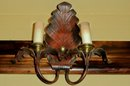 Four Pairs of Painted Brass Wall Sconces