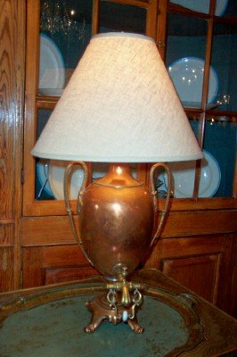 1880's Copper Kettle Lamp