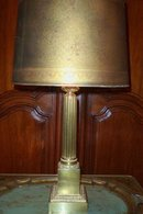 1900's French Bronze Column Lamp