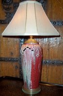 1920's Chinese Oxblood Lamp