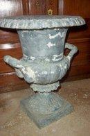 Pr. XIX Century Tin Urns