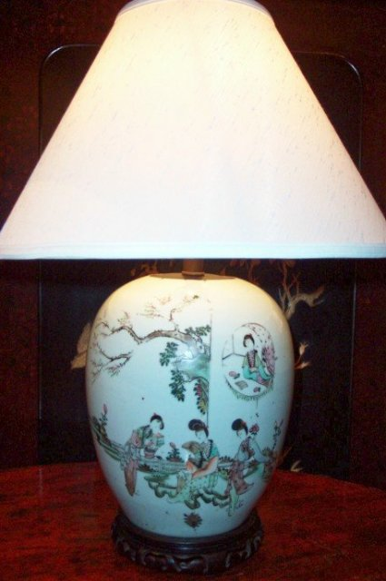 Pr. Chinese Porcelaine Lamps