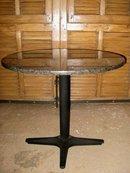 Mid Century Round Granite Top Table