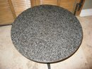 Mid Century Round Granite Top Table