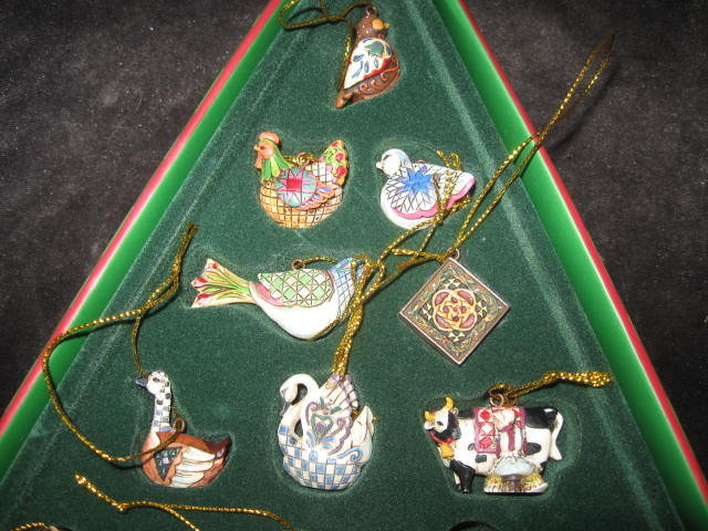 Jim Shore TWELVE DAYS of CHRISTMAS- 12 Ornaments Boxed New