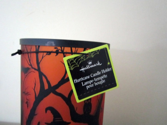 Hallmark Halloween HURRICANE CANDLE HOLDER like Hauntington +Tealight Candle