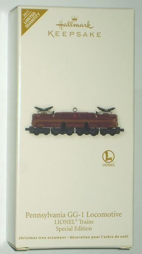 Hallmark 2011 PENNSYLVANIA GG-1 Lionel REPAINT Locomotive Trains Limited Ed Christmas die-cast Ornament