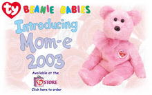MOM-e 2003 Ty Exclusive Beanie Baby Bear Mother's Day