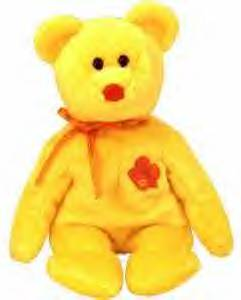 BUNGA RAYA Ty Beanie Baby  MALAYSIA Exclusive Asian Pacific Bear