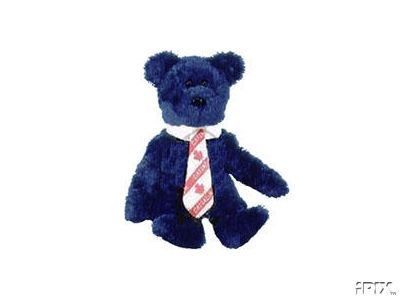 CANADIAN POPS Ty Beanie Baby Bear Canada Exclusive