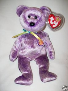 DREAMER Ty Beanie Baby Bear~Beanie of the Month