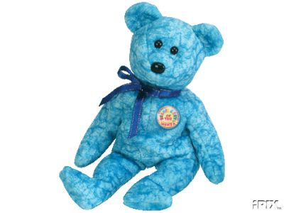 SPARKLES Ty Beanie Baby Bear Beanie of the Month