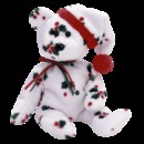 1998  Holiday Teddy Bear Ty Beanie Baby