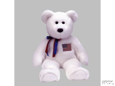 New LIBEARTY Ty Beanie BUDDY Patriotic USA Bear