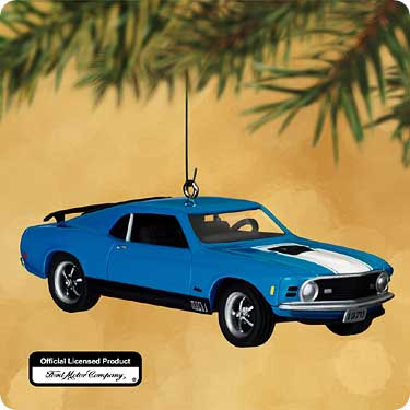 FORD Mach I MUSTANG 1970 Hallmark 2002 Christmas Ornament - Antiques, Art, Vintage