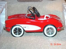 1958 CUSTOM CORVETTE Pedal Car Replica Hallmark~Kiddie Car Classics