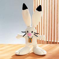 2002 Winter Olympic Rabbit Mascot POWDER Plush Salt Lake City SLC