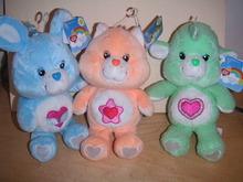 3 New CARE BEAR Bears COUSINS: RABBIT & CAT & LAMB
