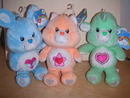 3 New CARE BEAR Bears COUSINS: RABBIT & CAT & LAMB