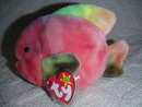 Authentic Ty CORAL Beanie Baby Fish MINT