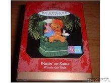 WINNIE the POOH: Waitin on Santa Hallmark 1997 Ornament
