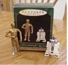 STAR WARS:C-3PO & R2-D2, 2 Mini Hallmark 1997 Ornaments