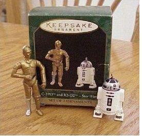 STAR WARS:C-3PO & R2-D2, 2 Mini Hallmark 1997 Ornaments
