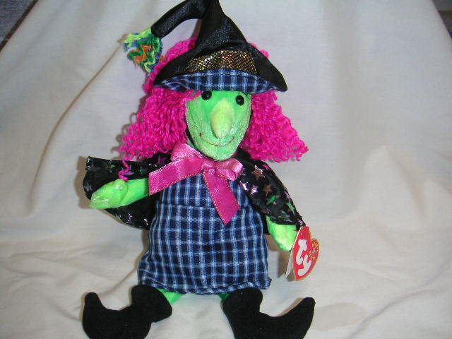 SCARY Witch Ty Halloween Beanie Baby