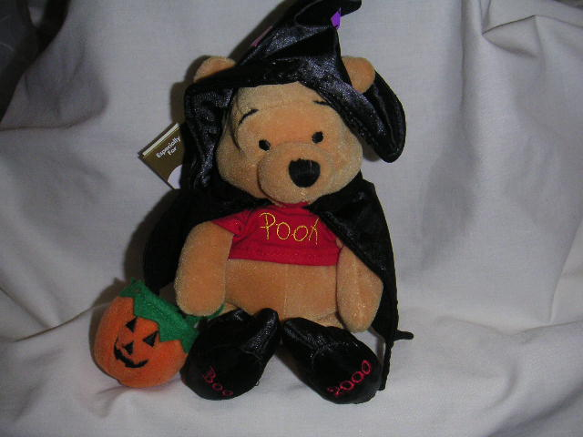 WINNIE the POOH Halloween Witch Bean Bag Disney