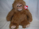 TANGO Ty Plush Classic Furry Brown Monkey Retired