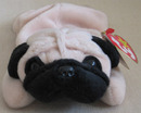 PUGSLY The PUG Ty Beanie Baby Dog Puppy