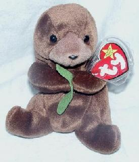 Seaweed the OTTER Ty Beanie Baby