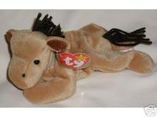 DERBY Ty Beanie Baby Coarse Mane Horse No Star