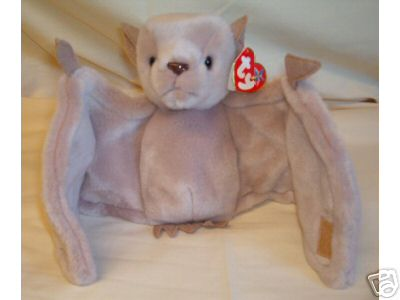 BATTY  Ty Beanie Baby BAT Tan Perfect for Halloween