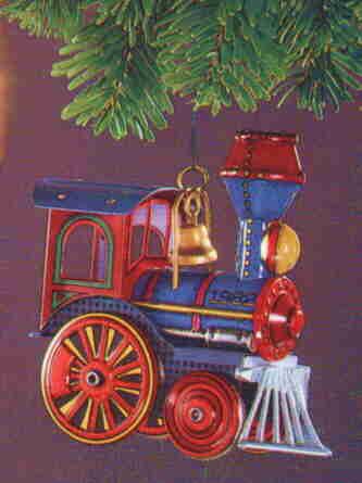 Hallmark 1982 Tin LOCOMOTIVE Ornament