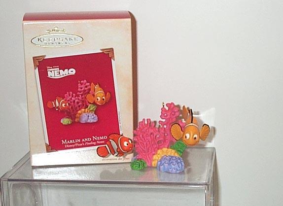 FINDING NEMO and Marlin Disney/Pixar's Hallmark Ornament 2003