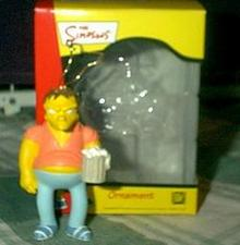 The SIMPSONS BARNEY Gumble with Beer~Christmas Ornament