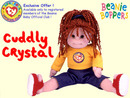 CUDDLY CRYSTAL Beanie BOPPER Doll Ty Club Exclusive