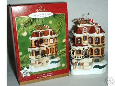 UP ON THE HOUSETOP 2001 Hallmark MAGIC Ornament