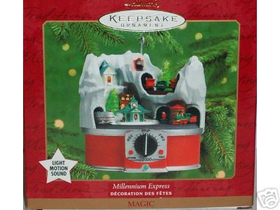 New MILLENNIUM EXPRESS Train Ornament Hallmark 2000 Christmas