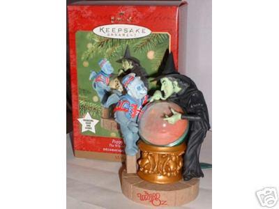 POPPY FIELD~Wizard of Oz Hallmark 2001 Christmas Ornament~Magic