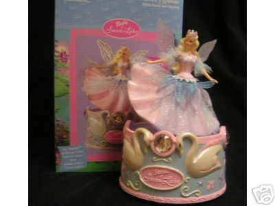 BARBIE SWAN LAKE Figurine MUSIC BOX with Motion