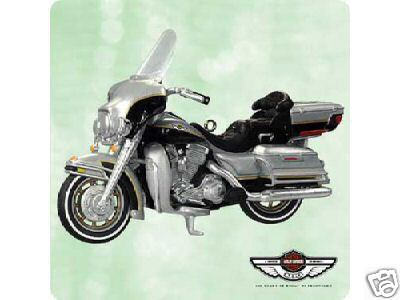 HARLEY DAVIDSON Electra Glide Motorcycle 100th Ann Hallmark 2003 Ornament