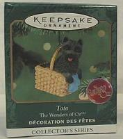 TOTO: Wizard of Oz #3 Hallmark 2001 Mini Ornament Cairn Terrier